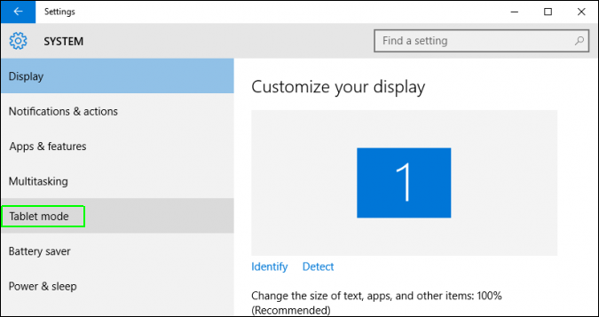 How to Enable or Disable Tablet Mode in Windows 10 - Select ablet mode