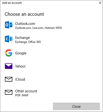 Add Mail Account in Windows Mail and Calendar App