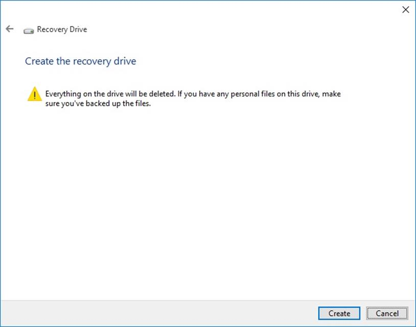 how to create a recovery drive for reinstalling Windows 10