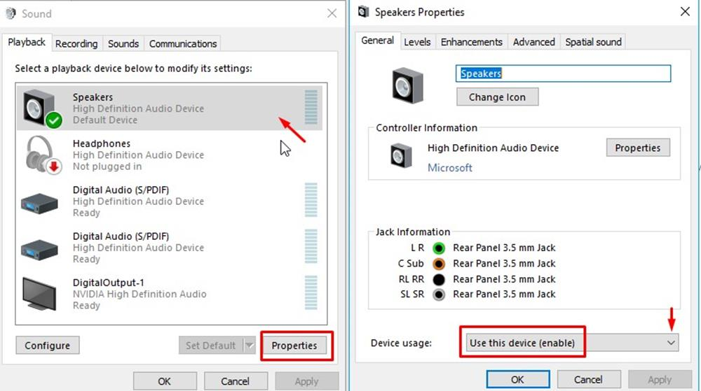 Fix No Sound after Unplugging Headphones in Windows 10 - BynaryCodes
