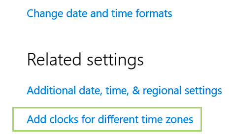 Add multiple time zone clocks in Windows 10 - BynaryCodes