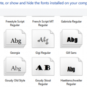 How to change the default fonts in Windows 10