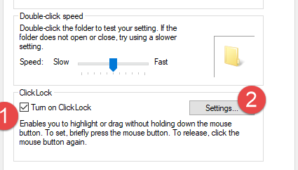 Configure Mouse and Keyboard settings in Windows 10