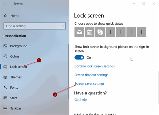 How to Change Screen Saver in Windows 10