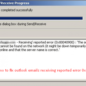 Fix An unknown error has occurred Outlook Error 0x80040119-0x80040600