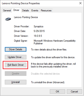 Fix Laptop mouse pad-touch pad not working on Windows 10