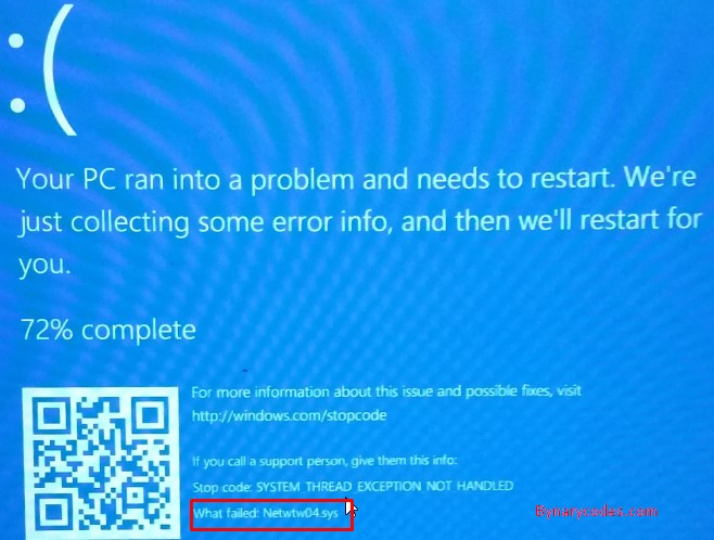 Fix Netwtw04.sys blue screen of death error in Windows 10