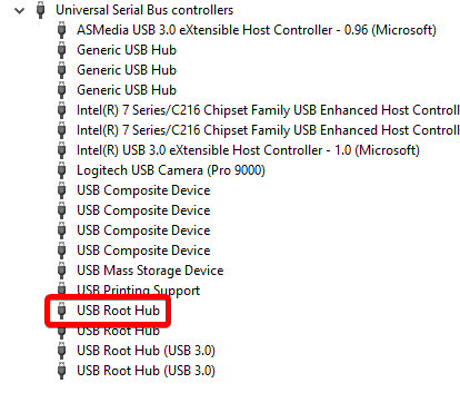 USB ports not working or USB device not recognized