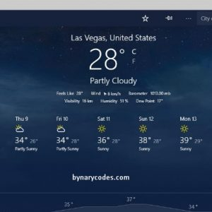 Windows 10 Weather app not working or opening
