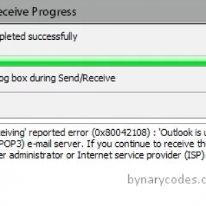 Fix error 0x80042108 Outlook is unable to connect to your incoming email server