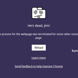 Fix Google Chrome error He's dead, Jim!