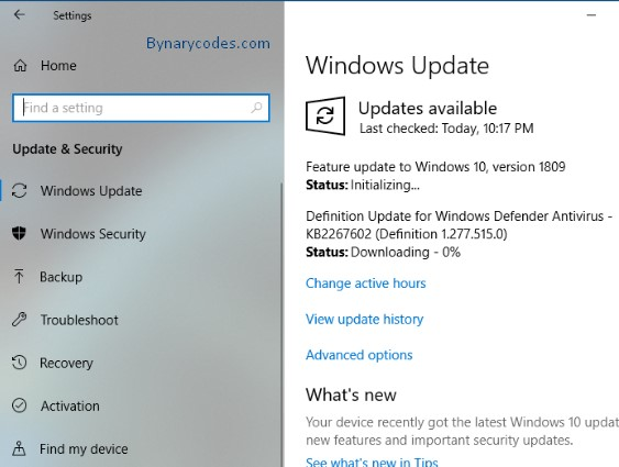 Windows 10 update version 1809 available for download - BynaryCodes