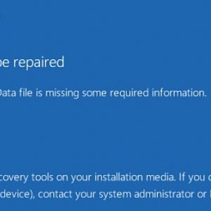 bad system config info blue screen error