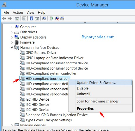 C:\Users\Canous Technologies\Desktop\screenshots\Touch Screen Driver in Device manager.jpg