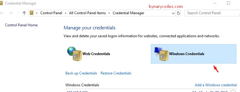 C:\Users\Canous\Desktop\Screenshot\Windows Credentials manager.jpg