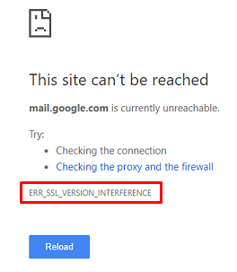 Fix ERR_SSL_VERSION_INTERFERENCE error on Chrome