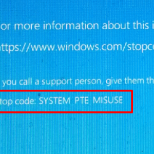 SYSTEM_PTE_MISUSE Blue Screen error on Windows 10
