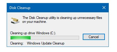 Disk Cleanup stuck on Windows Update Cleanup