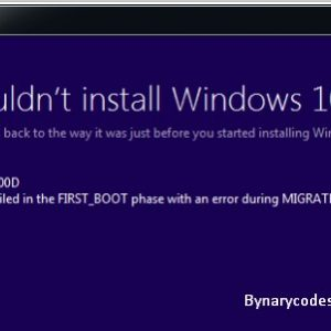 Fix Windows 10 Upgrade Error 8007001F – 0x3000D