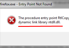 Fix ntdll.dll error – entry point could not be located