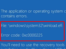 Fix Winload.efi file missing error on Windows 10