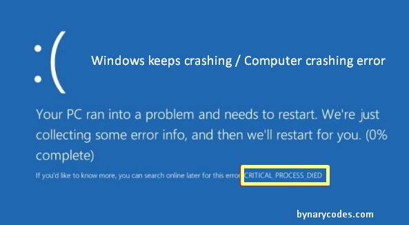 Windows keeps crashing - computer crashing - Windows crashing